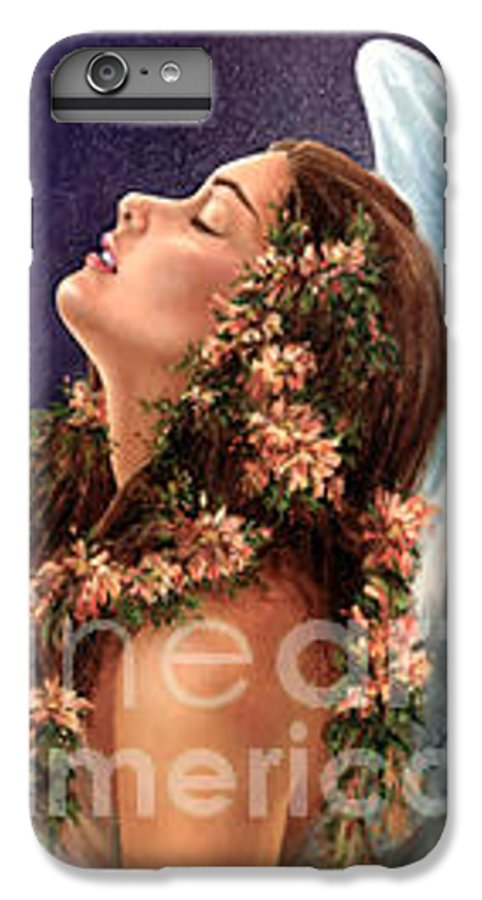 Angel IPhone 6 Plus Case featuring the painting Island Angel by Wendy Froshay