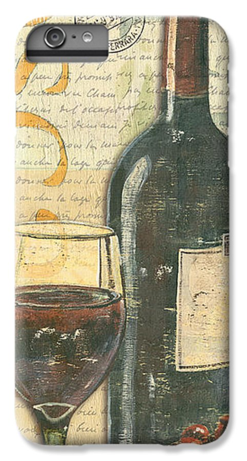 Wine IPhone 6 Plus Case featuring the painting Italian Wine And Grapes by Debbie DeWitt