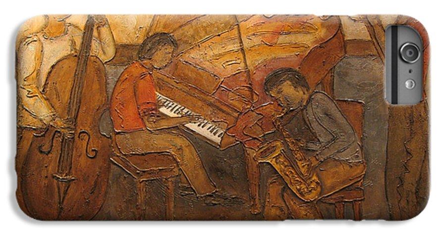 Impressionist IPhone 6 Plus Case featuring the painting Jazz Quartet by Anita Burgermeister