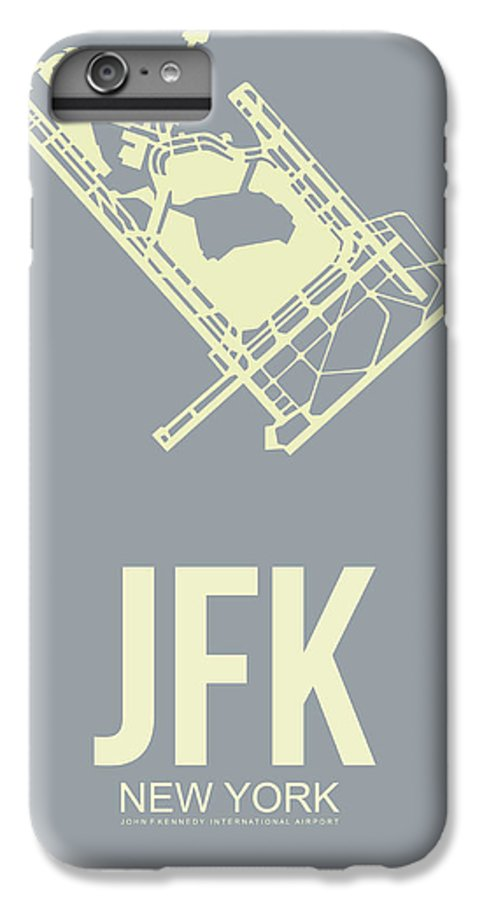 New York IPhone 6 Plus Case featuring the digital art Jfk Airport Poster 1 by Naxart Studio