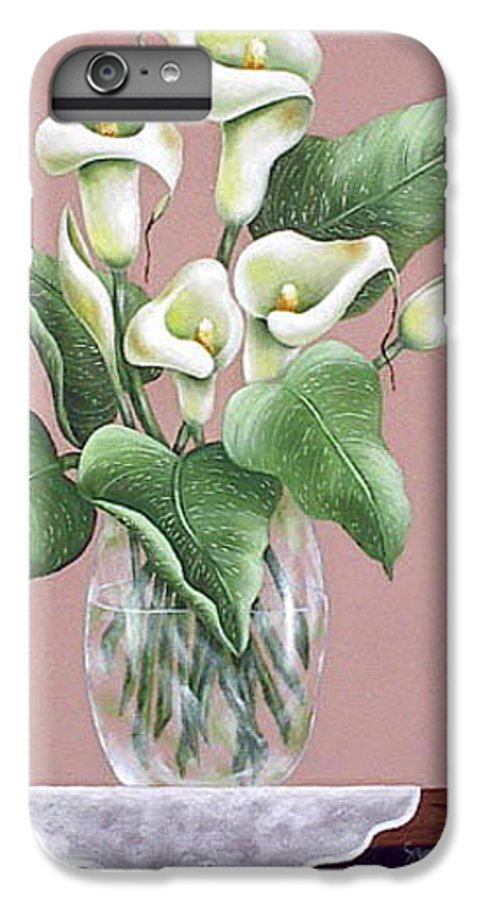 Oil IPhone 6 Plus Case featuring the painting Josies Lilies by Ruth Bares