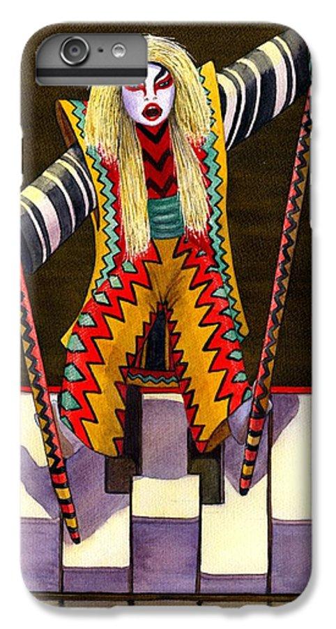 Kabuki IPhone 6 Plus Case featuring the painting Kabuki Chopsticks 2 by Catherine G McElroy