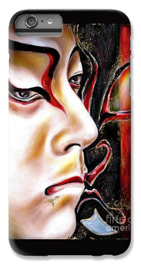 Kabuki IPhone 6 Plus Case featuring the painting Kabuki Three by Hiroko Sakai