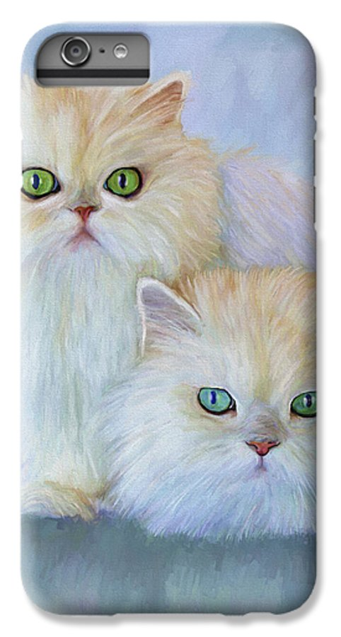 Cat IPhone 6 Plus Case featuring the painting Katrina And Bjorn by David Wagner
