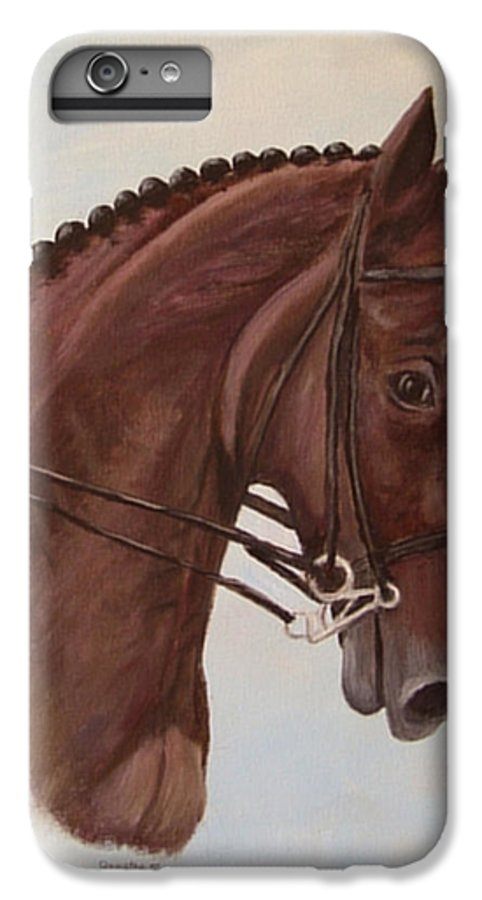 Horse IPhone 6 Plus Case featuring the painting Kingd'azur by Quwatha Valentine