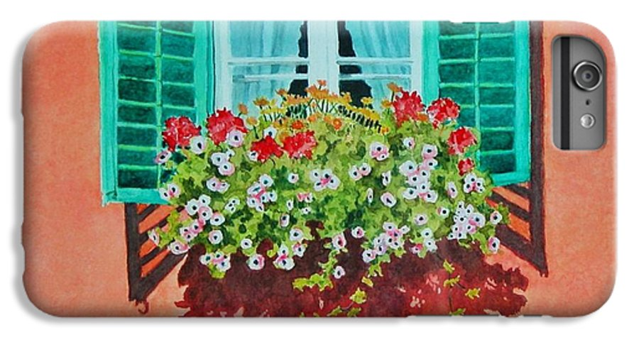 Window Box IPhone 6 Plus Case featuring the painting Kitzbuhel Window by Mary Ellen Mueller Legault