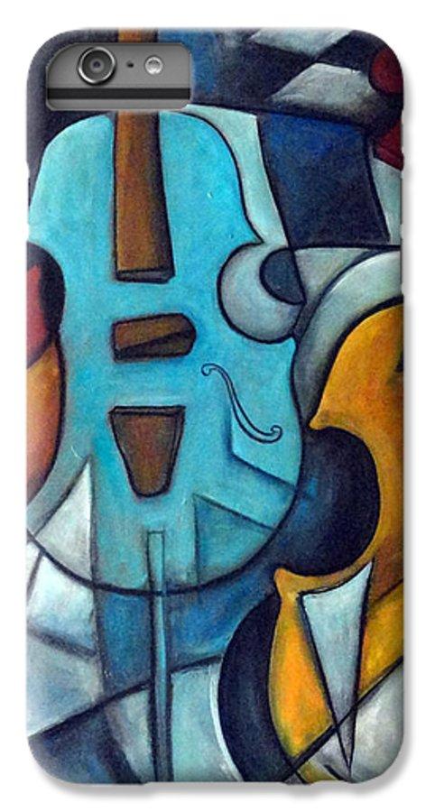 Music IPhone 6 Plus Case featuring the painting La Musique 2 by Valerie Vescovi