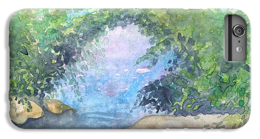 Landscape IPhone 6 Plus Case featuring the painting Landscape 2 by Christina Rahm Galanis