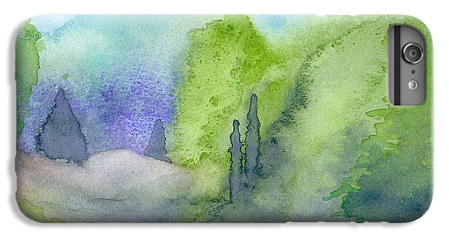 Landscape IPhone 6 Plus Case featuring the painting Landscape 3 by Christina Rahm Galanis