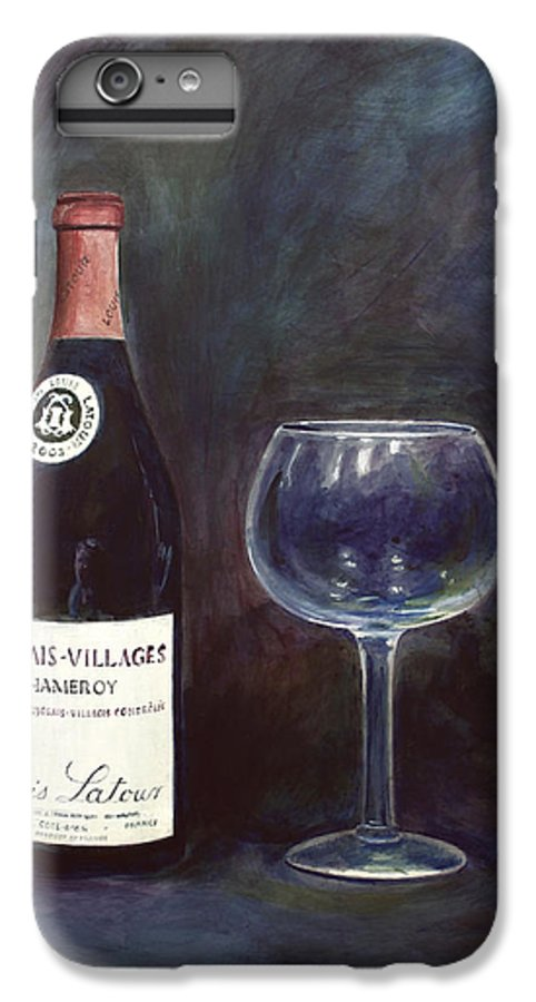 Lime Painting IPhone 6 Plus Case featuring the painting Latour Wine Buon Fresco 3 Primary Pigments by Don Jusko