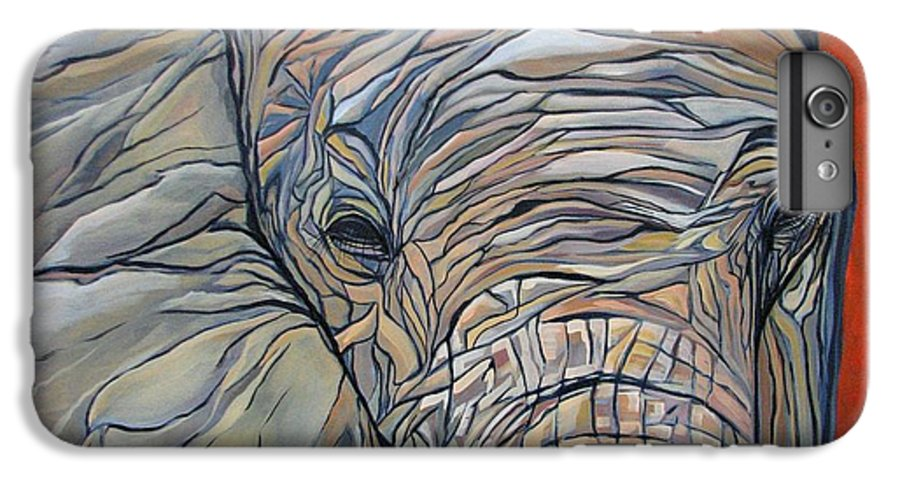 Elephant IPhone 6 Plus Case featuring the painting Lazy Boy by Aimee Vance