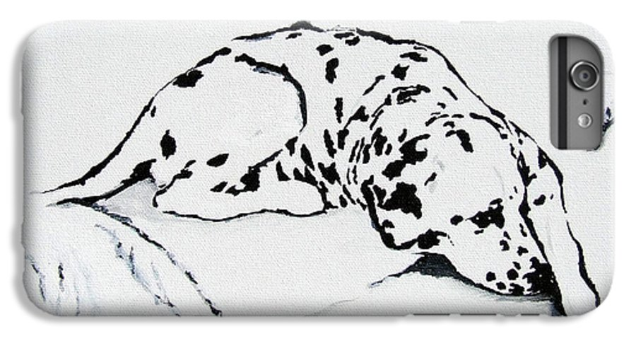 Dogs IPhone 6 Plus Case featuring the painting Lazy Day by Jacki McGovern