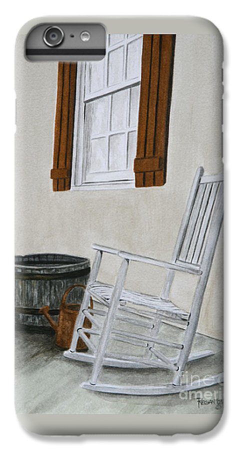 Americana IPhone 6 Plus Case featuring the painting Lazy Day by Regan J Smith