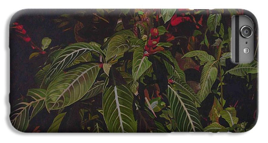 Leaves IPhone 6 Plus Case featuring the painting Leaving Monroe by Thu Nguyen