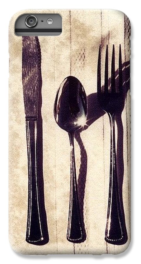 Forks IPhone 6 Plus Case featuring the photograph Lets Eat by Jane Linders