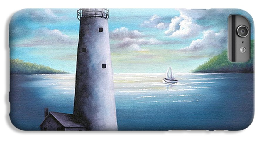 Oil IPhone 6 Plus Case featuring the painting Lighthouse by Ruth Bares