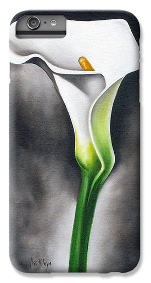 Lilly IPhone 6 Plus Case featuring the painting Lily by Ilse Kleyn