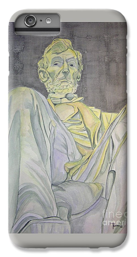 Presidents IPhone 6 Plus Case featuring the painting Lincoln by Regan J Smith
