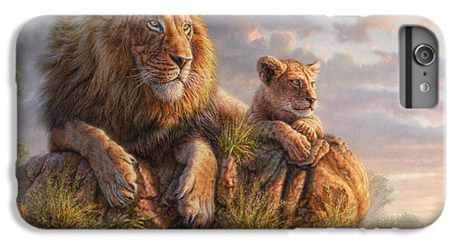 Lion IPhone 6 Plus Case featuring the mixed media Lion Pride by Phil Jaeger