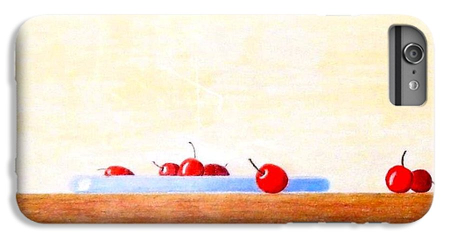 Cherries IPhone 6 Plus Case featuring the painting Lite Life by A Robert Malcom