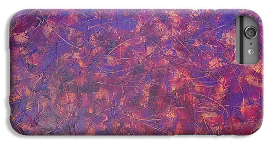 Abstract IPhone 6 Plus Case featuring the painting Long Beach 5am by Dean Triolo