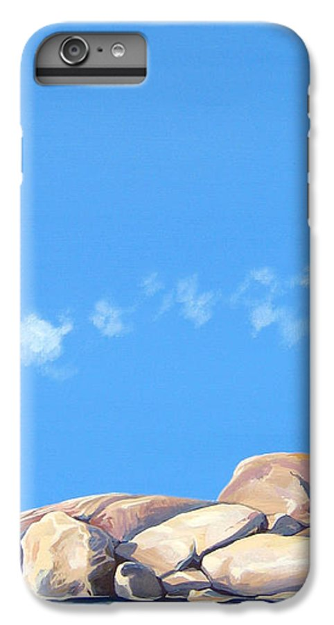 Rocks IPhone 6 Plus Case featuring the painting Lost Voices by Hunter Jay