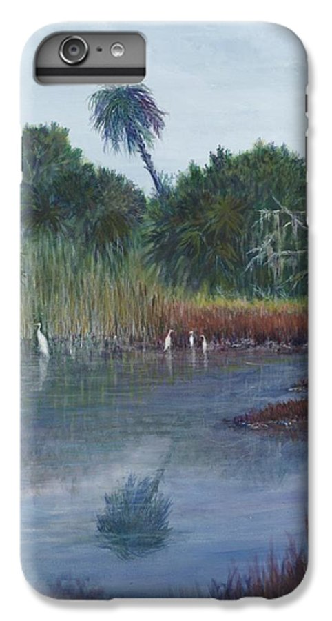 Landscape IPhone 6 Plus Case featuring the painting Low Country Social by Ben Kiger