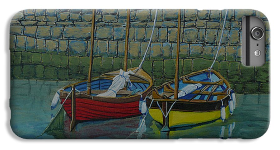 Rock IPhone 6 Plus Case featuring the painting Low Tide by Anthony Dunphy