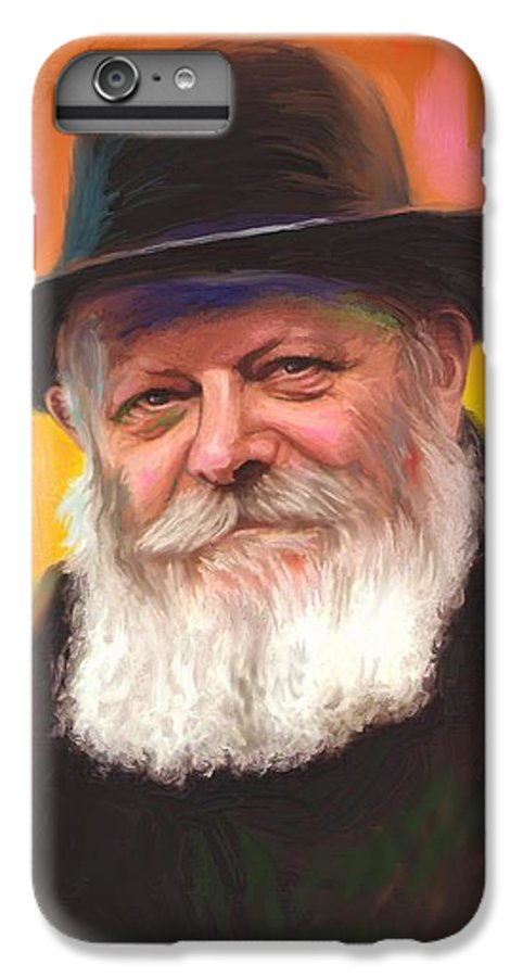 Lubavitcher Rebbe IPhone 6 Plus Case featuring the painting Lubavitcher Rebbe by Sam Shacked