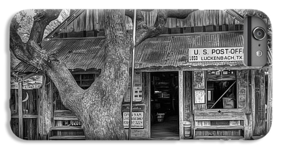 Luckenbach IPhone 6 Plus Case featuring the photograph Luckenbach 2 Black And White by Scott Norris