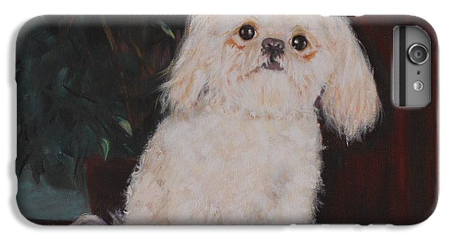 Dog IPhone 6 Plus Case featuring the painting Lulu by Quwatha Valentine