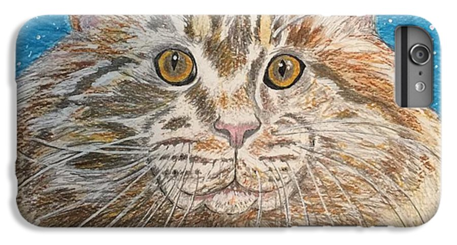 Maine IPhone 6 Plus Case featuring the painting Maine Coon Cat by Kathy Marrs Chandler