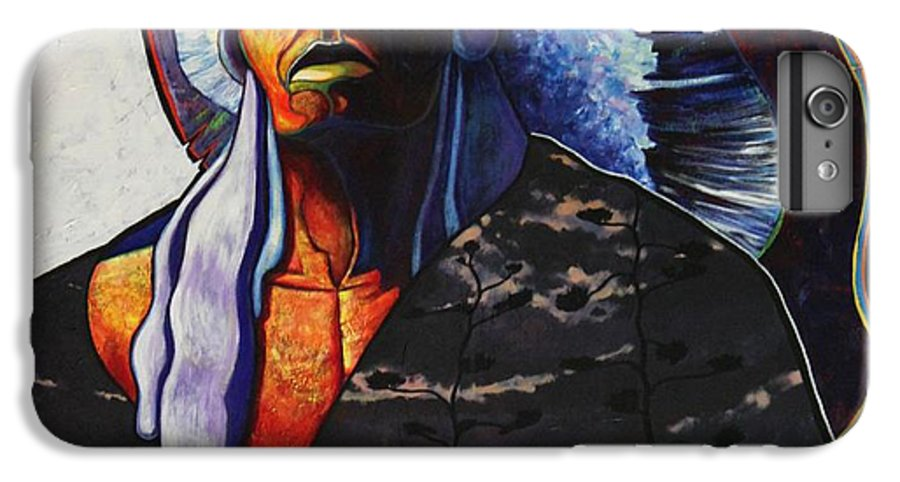 Native American IPhone 6 Plus Case featuring the painting Make Me Worthy by Joe Triano