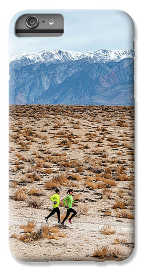 20-29 Years IPhone 6 Plus Case featuring the photograph Man And Woman Trail Running by Rick Saez