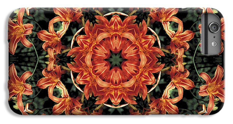 Mandala IPhone 6 Plus Case featuring the photograph Mandala Daylily by Nancy Griswold
