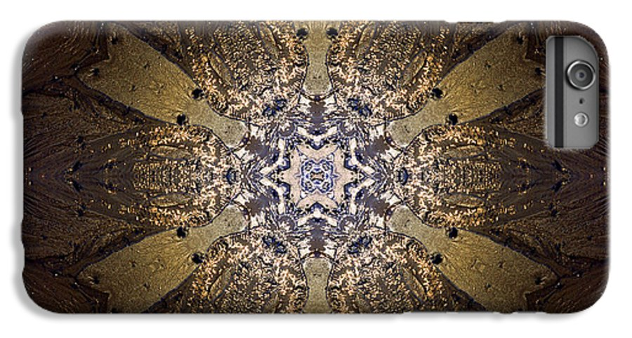 Mandala IPhone 6 Plus Case featuring the photograph Mandala Sand Dollar At Wells by Nancy Griswold