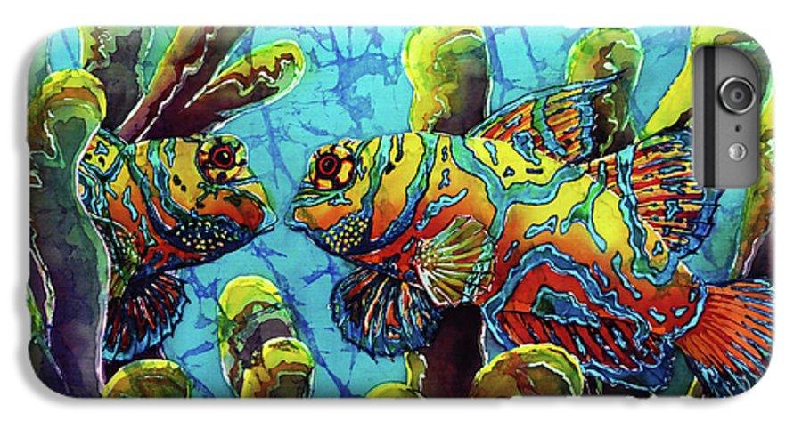 Mandarinfish IPhone 6 Plus Case featuring the painting Mandarinfish by Sue Duda