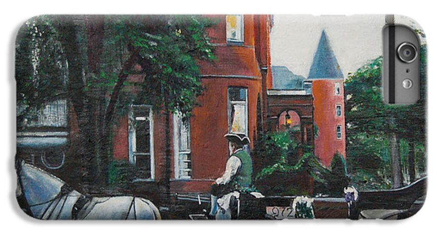 IPhone 6 Plus Case featuring the painting Mansion On Forsythe Savannah Georgia by Jude Darrien