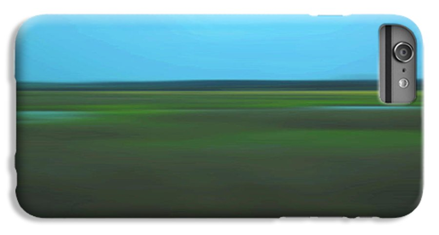 Abstract IPhone 6 Plus Case featuring the photograph Marsh Blur by Suzanne Gaff