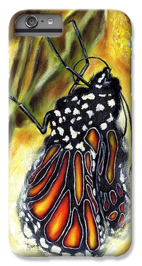 Butterfly IPhone 6 Plus Case featuring the painting Metamorphosis by Hiroko Sakai