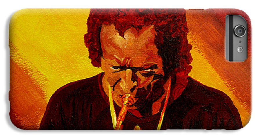 Miles Davis IPhone 6 Plus Case featuring the painting Miles Davis Jazz Man by Anthony Dunphy