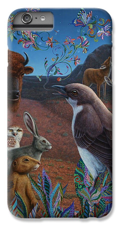Mockingbird IPhone 6 Plus Case featuring the painting Moonlight Cantata by James W Johnson