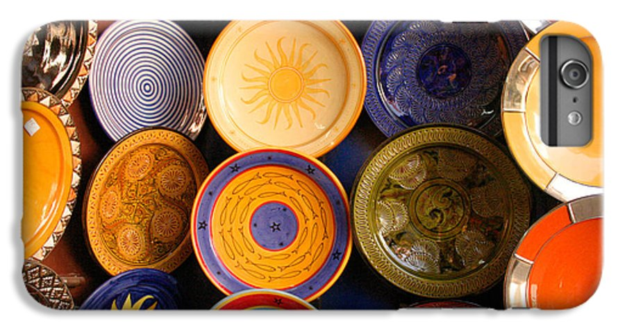 Morocco IPhone 6 Plus Case featuring the photograph Moroccan Pottery On Display For Sale by Ralph A Ledergerber-Photography