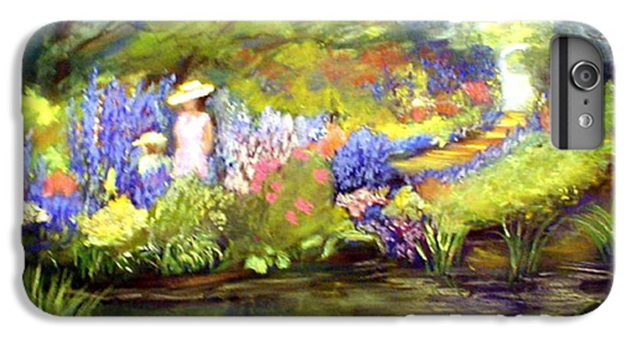 Flower Garden IPhone 6 Plus Case featuring the painting Mother And Daughter by Gail Kirtz