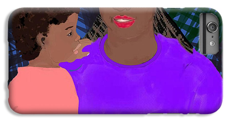 Mother IPhone 6 Plus Case featuring the painting Mother And Daughter by Pharris Art