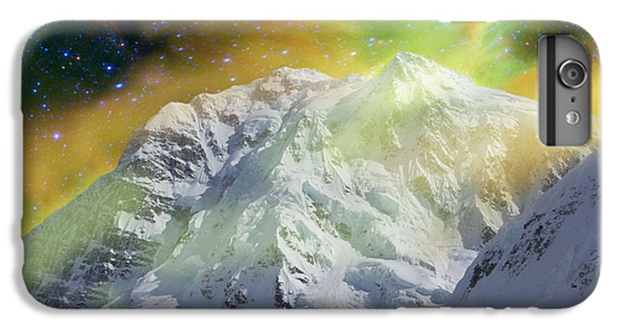 Alaska IPhone 6 Plus Case featuring the photograph Mt. Hunter Aurora # Da 129 by Dianne Roberson