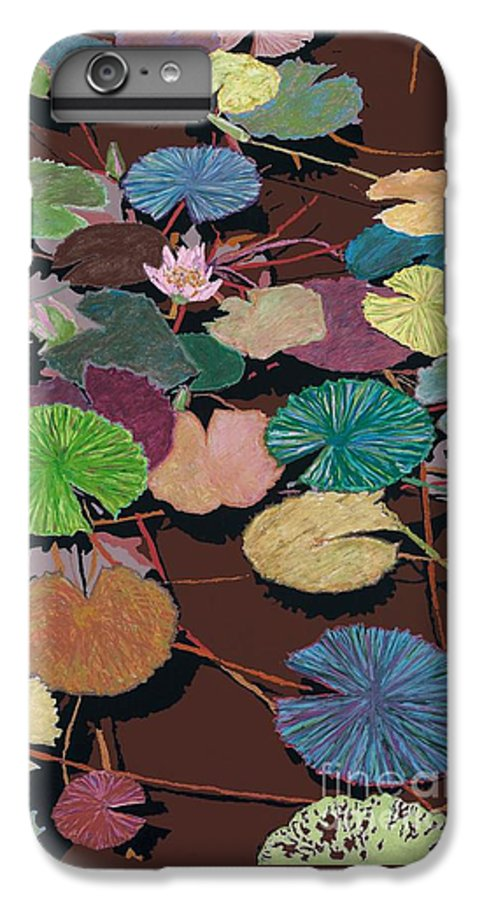 Landscape IPhone 6 Plus Case featuring the painting Muddy Waters by Allan P Friedlander