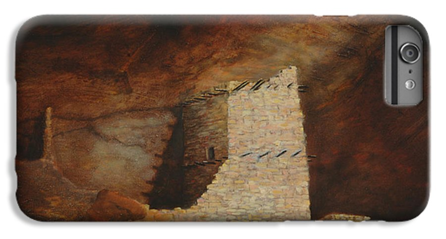 Anasazi IPhone 6 Plus Case featuring the painting Mummy Cave by Jerry McElroy