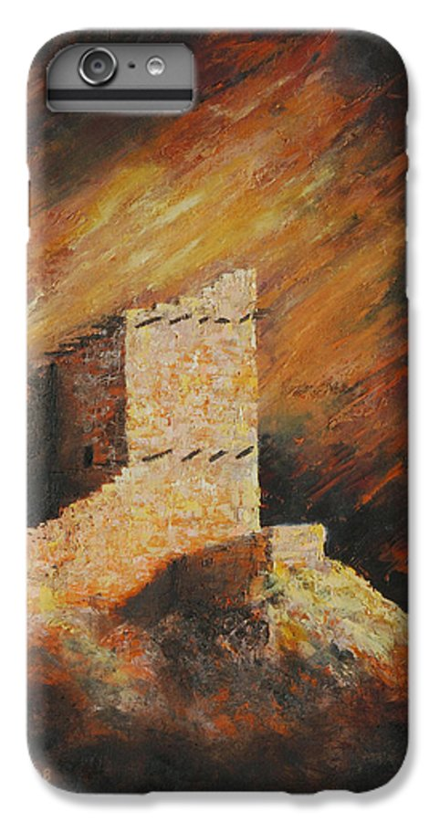 Anasazi IPhone 6 Plus Case featuring the painting Mummy Cave Ruins 2 by Jerry McElroy