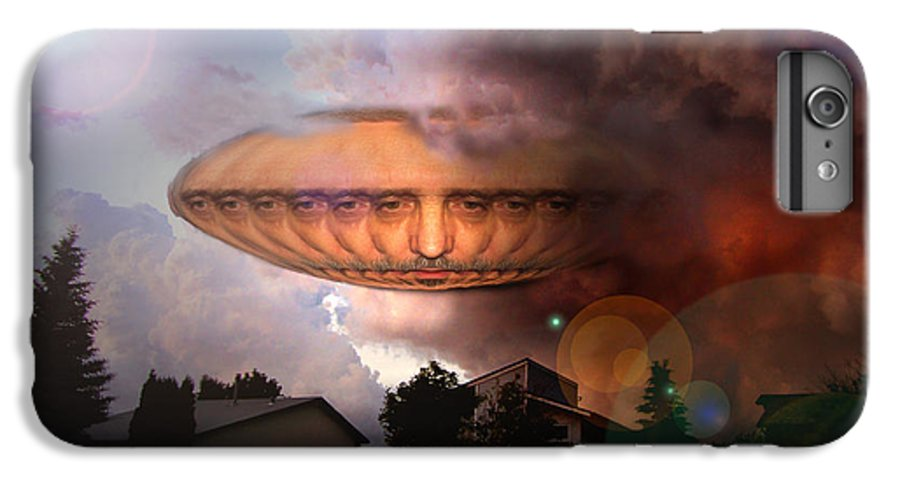 Surrealism IPhone 6 Plus Case featuring the digital art Mystic Ufo by Otto Rapp